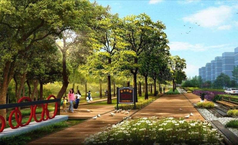 景观内包括儿童弧形,v景观广场,公园廊架,大道活动区,树阵林荫,广场国内网页设计图片