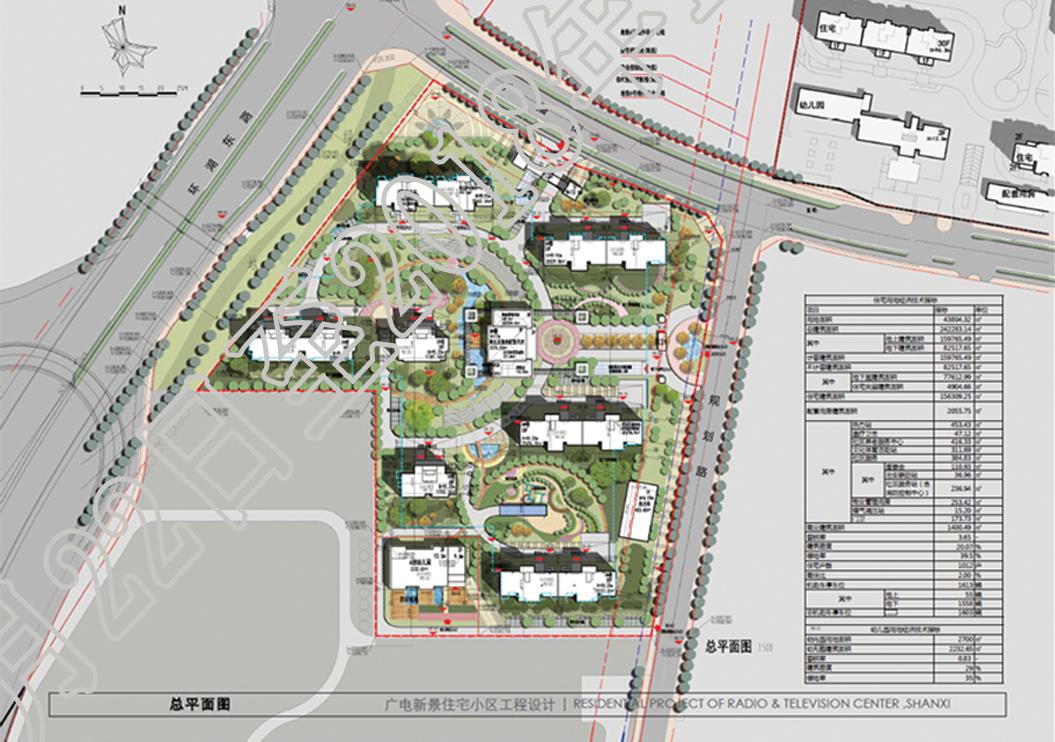 晋阳湖东岸 广电新景住宅小区规划公示